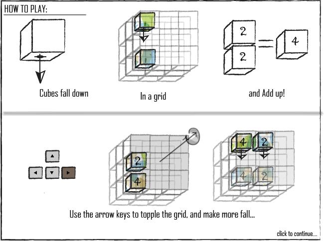 Cubiks-2048 3D